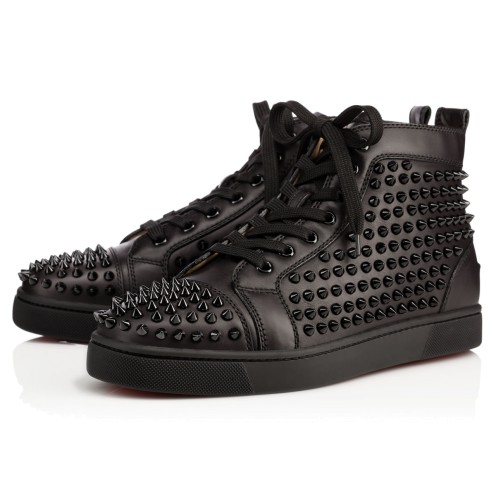 Men Shoes - Louis Calf/spikes - Christian Louboutin