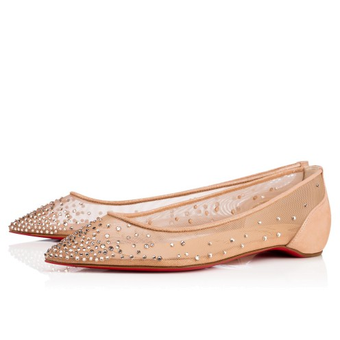 Souliers - Follies Strass Rete/suede Lame - Christian Louboutin