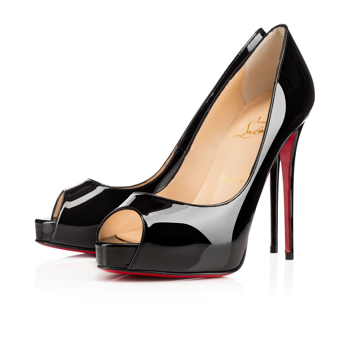 official photos 54bf5 62063 NEW VERY PRIVE 120 Black Patent Calfskin - Women Shoes - Christian Louboutin