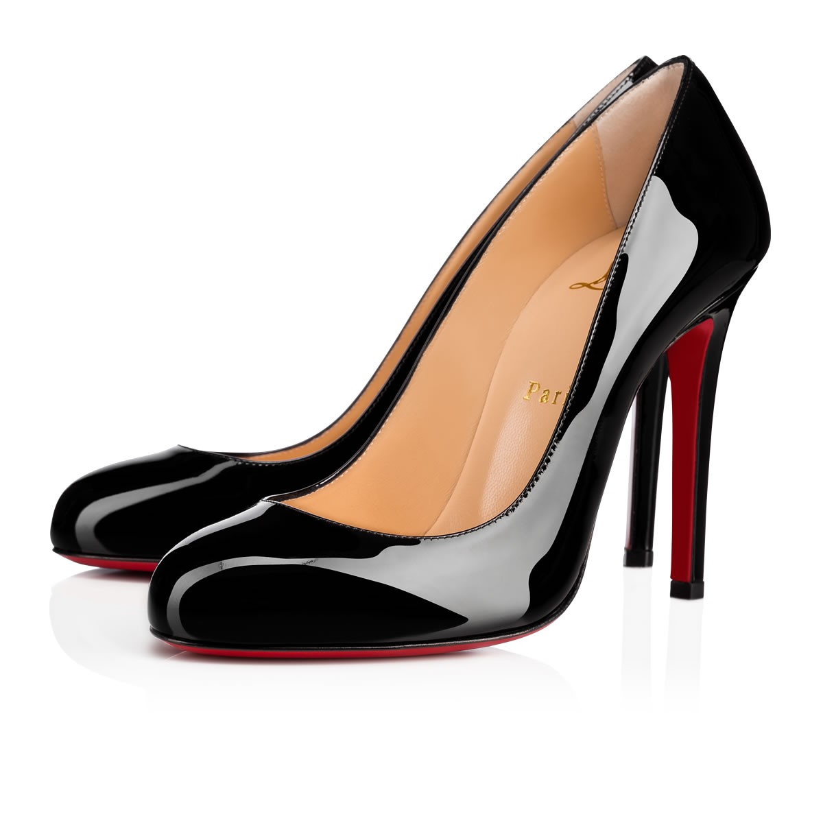 6149244f08b6 FIFILLE PATENT 100 Black Patent Calfskin - Women Shoes - Christian Louboutin
