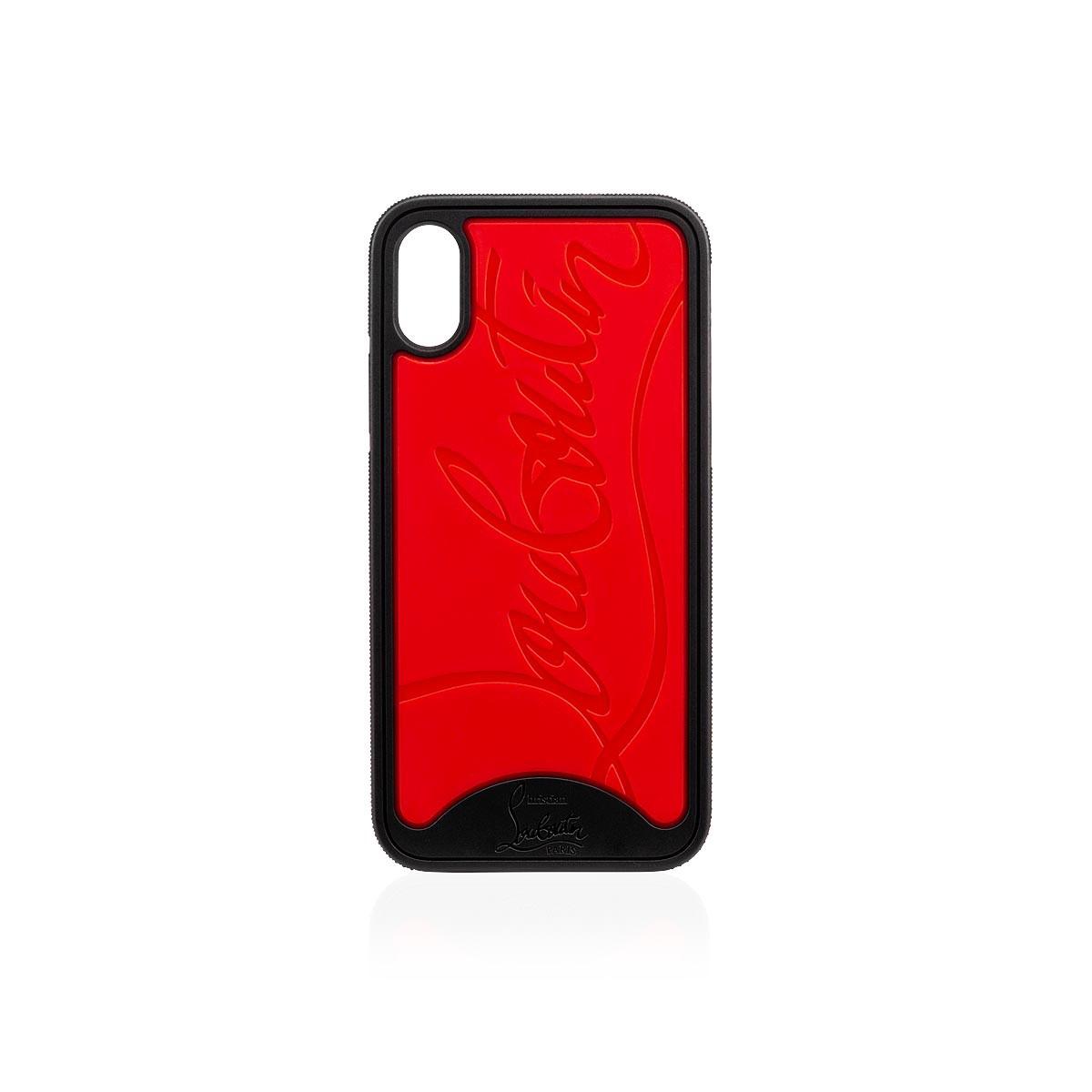 7ac6bcb080b Loubiphone X BLACK-RED Rubber - Accessories - Christian Louboutin