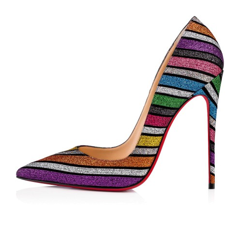 Souliers - So Kate Suède Stripyglitter - Christian Louboutin_2