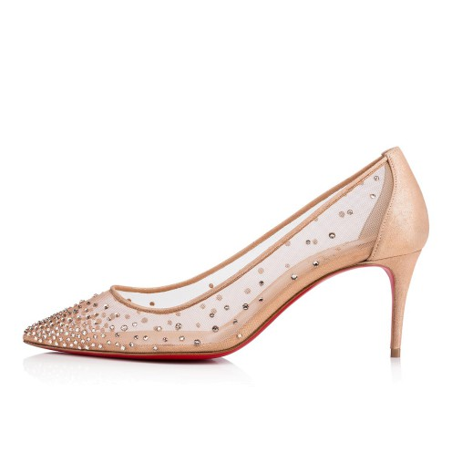 Shoes - Follies Strass Rete/suede Lame - Christian Louboutin_2
