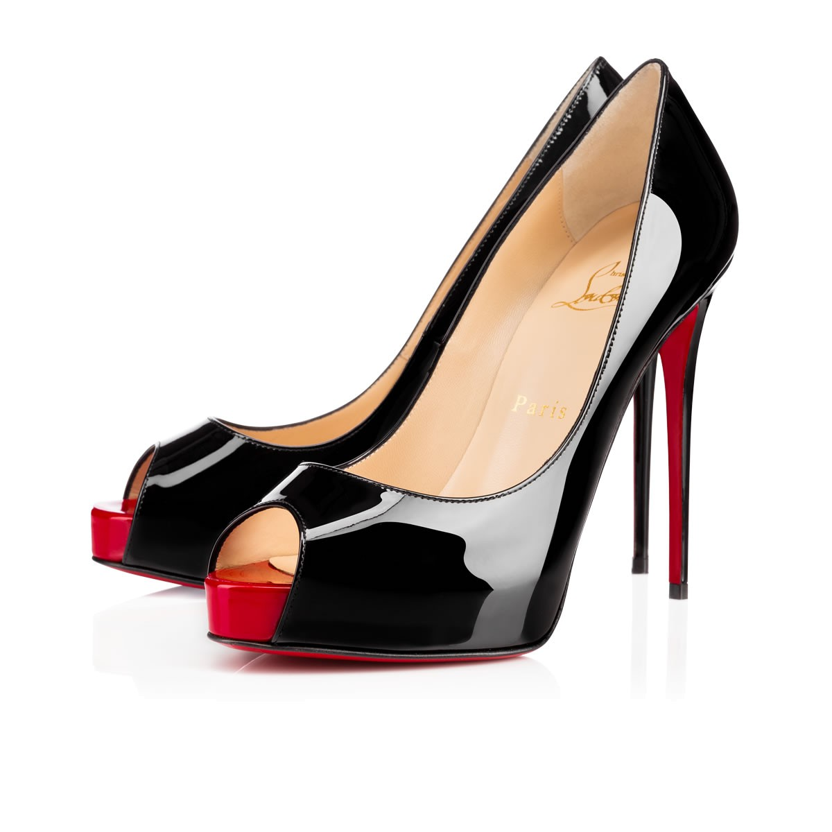 NEW VERY PRIVE PATENT 120 Black Red Patent Calfskin - Women ... 345795fa0