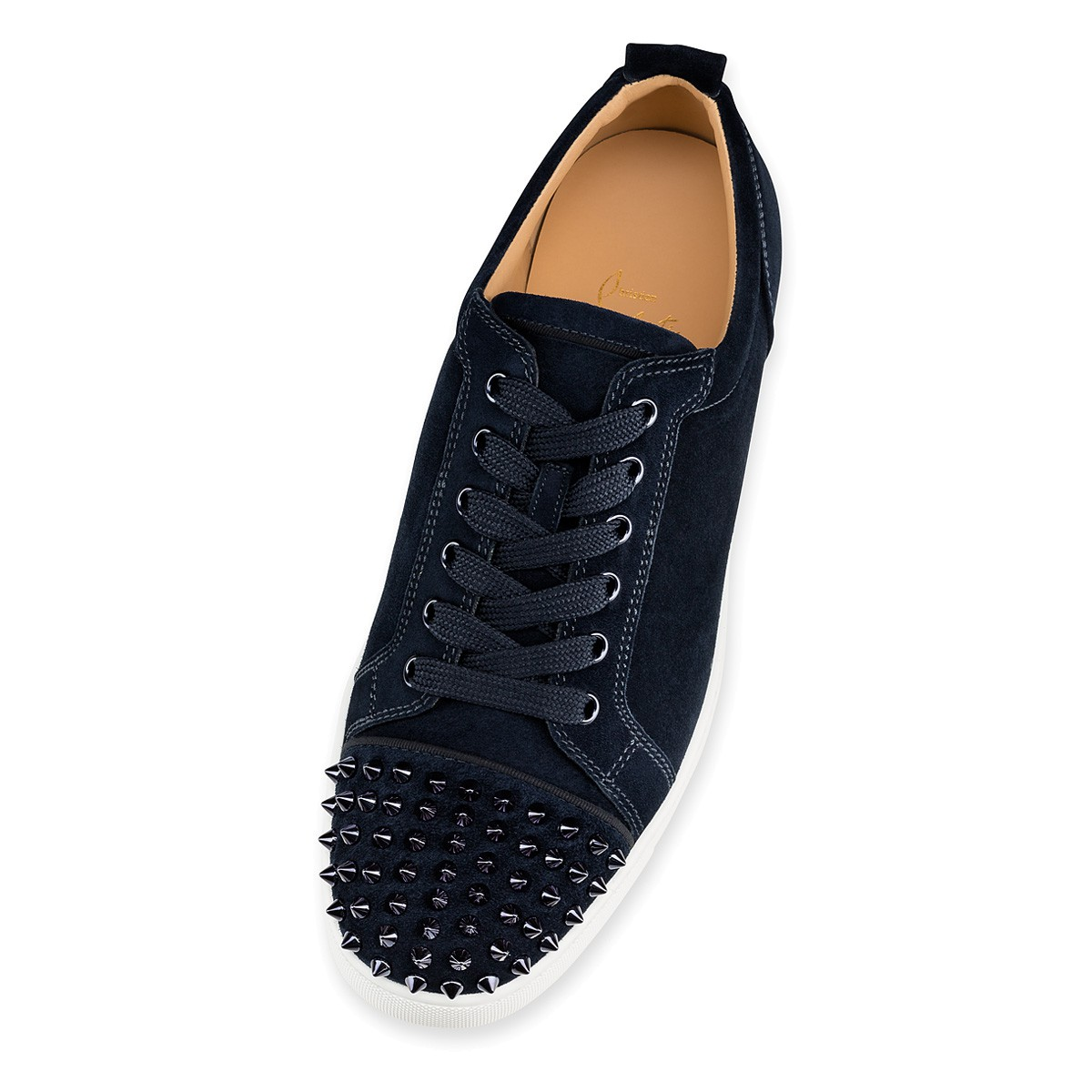 Shoes - Louis Junior Spikes Veau Velours - Christian Louboutin