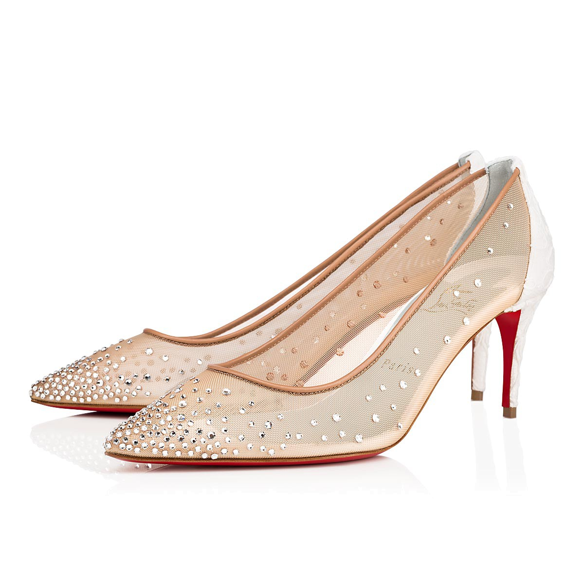 Souliers - Follies Strass Dentelle - Christian Louboutin