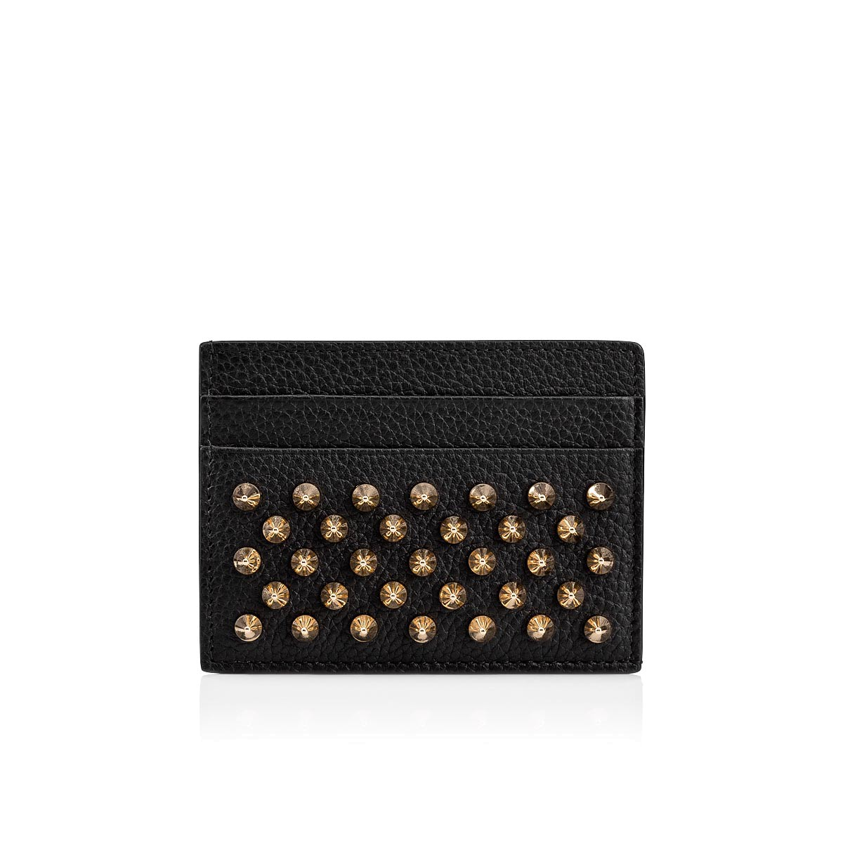 2e6aa6b2f68 Kios Card Holder Black/Gold Calfskin - Accessories - Christian Louboutin