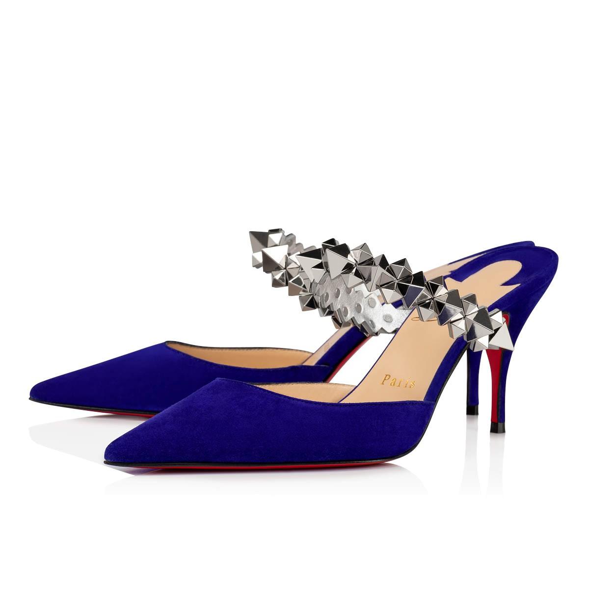 louboutin blue shoes