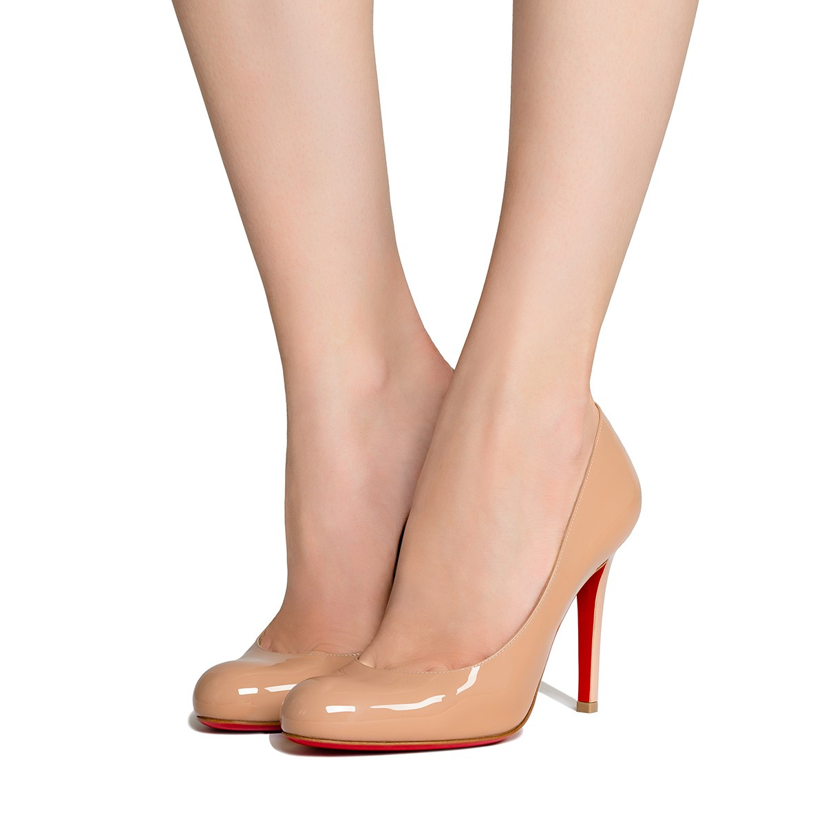 60480112133 SIMPLE PUMP 100 Nude Patent calfskin - Women Shoes - Christian Louboutin