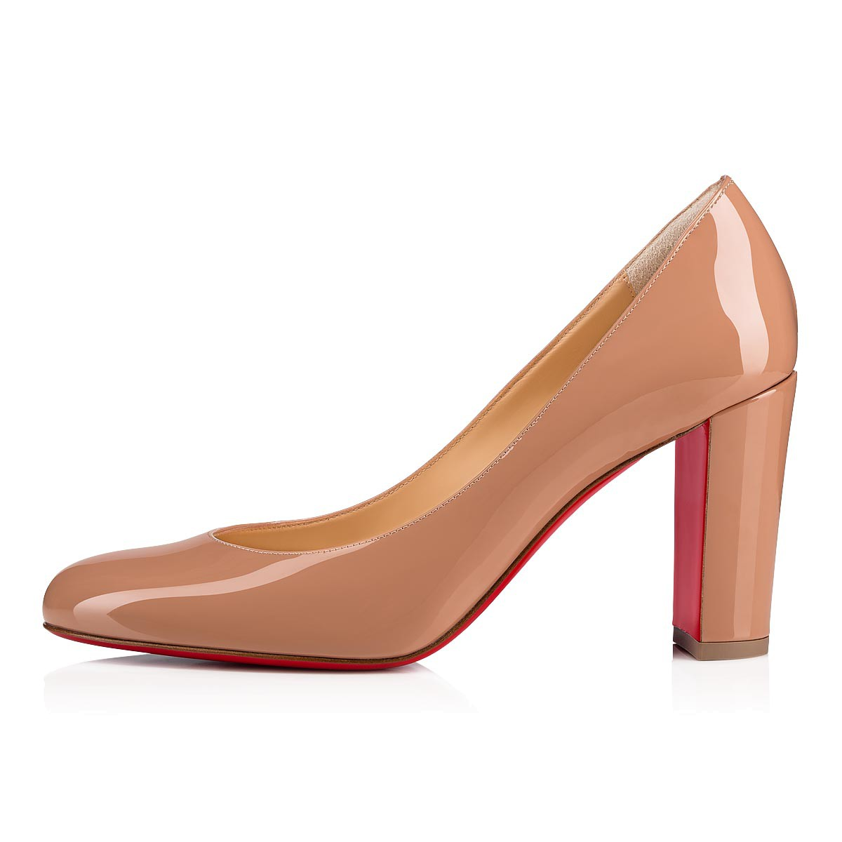 official shop best wholesaler online store Lady Gena 85 Nude Patent calfskin - Women Shoes - Christian Louboutin