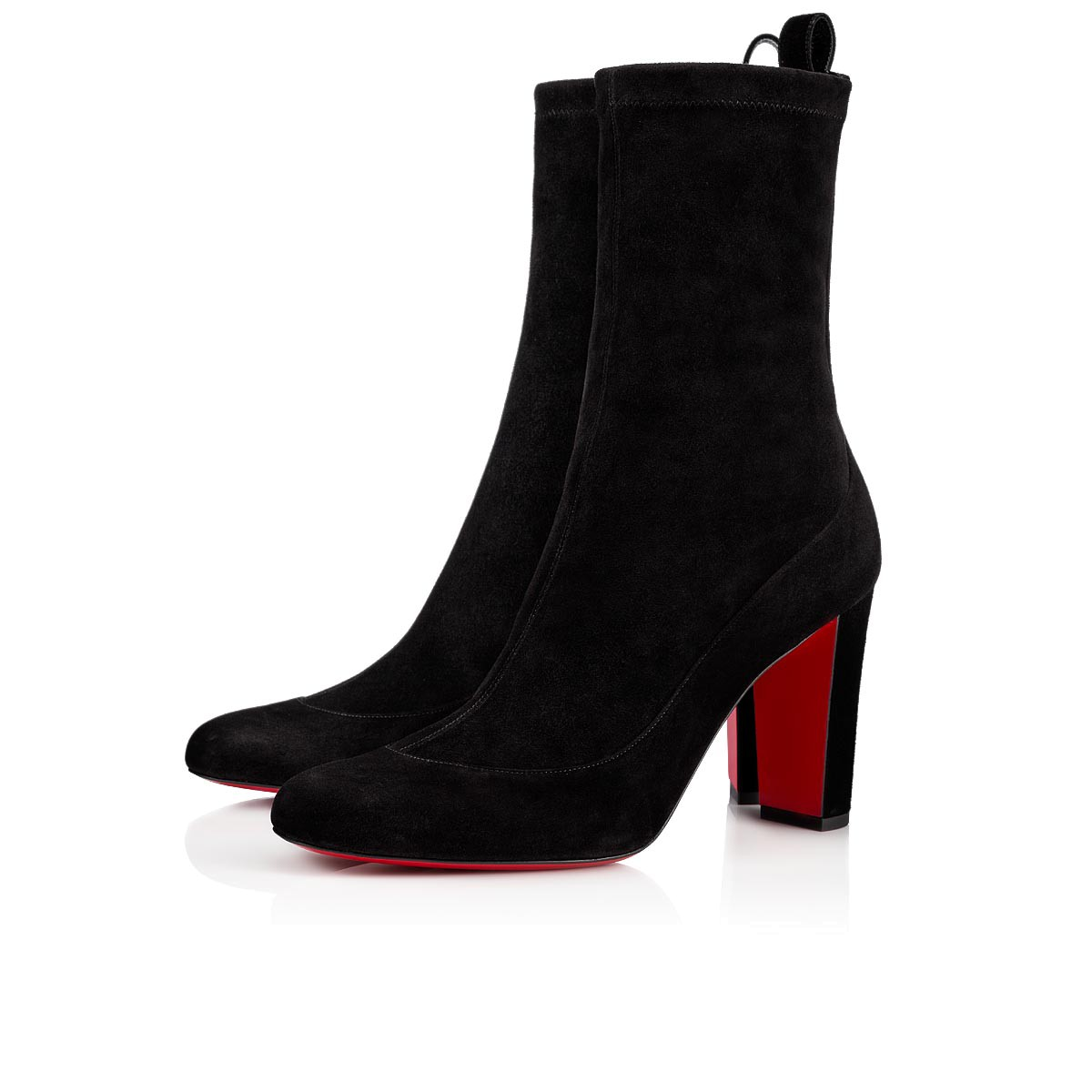 941d0f4e0e2 GENA BOOTIE 85 Black Veau Velours - Women Shoes - Christian Louboutin