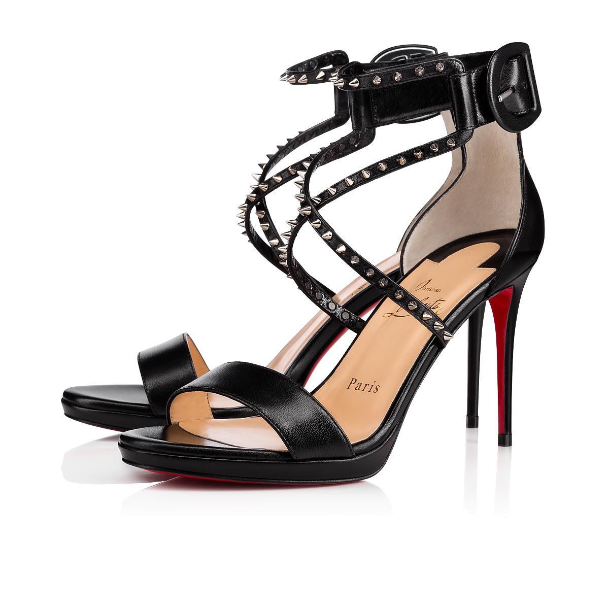 1eaac2c29ac Choca 100 BLACK/SILVER Kid - Women Shoes - Christian Louboutin