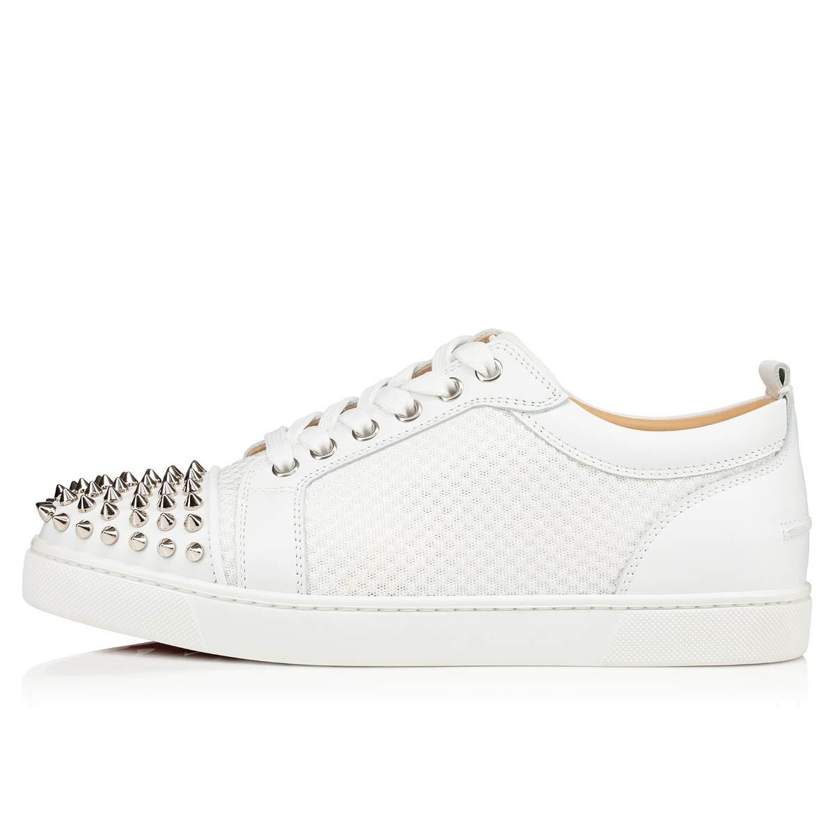 99d98975a8f AC LOUIS JUNIOR SPIKES WOMAN White Fabric and Calfskin - Women Shoes -  Christian Louboutin