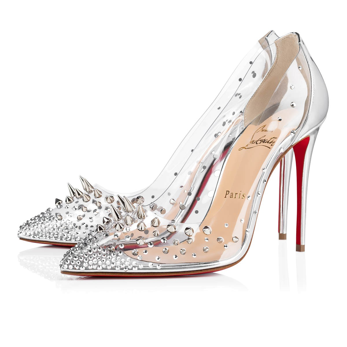 huge discount acca2 efefa GROTIKA 100 Silver PVC - Women Shoes - Christian Louboutin