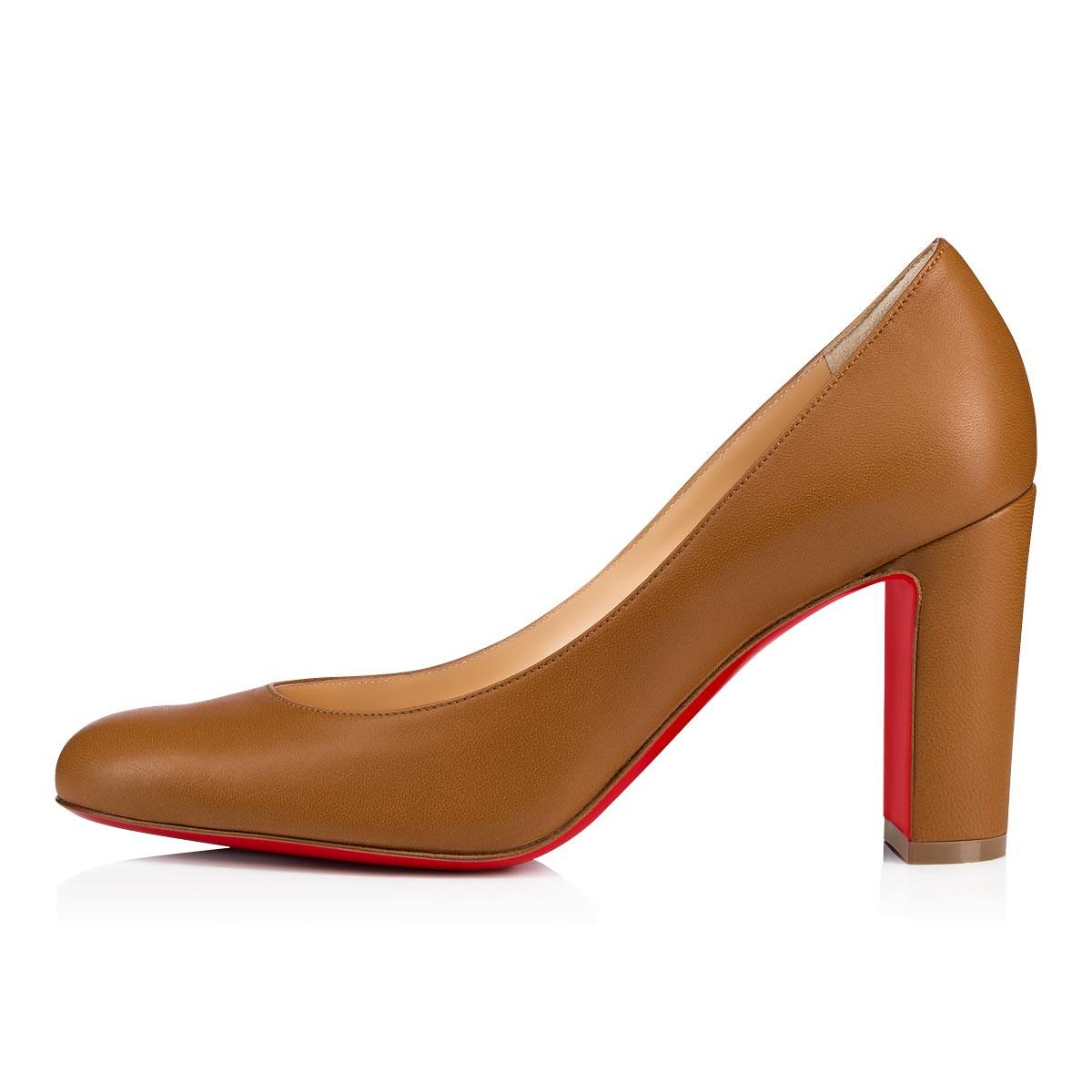 fea9806efd7 LADY GENA 85 Caramel Nappa leather - Women Shoes - Christian Louboutin