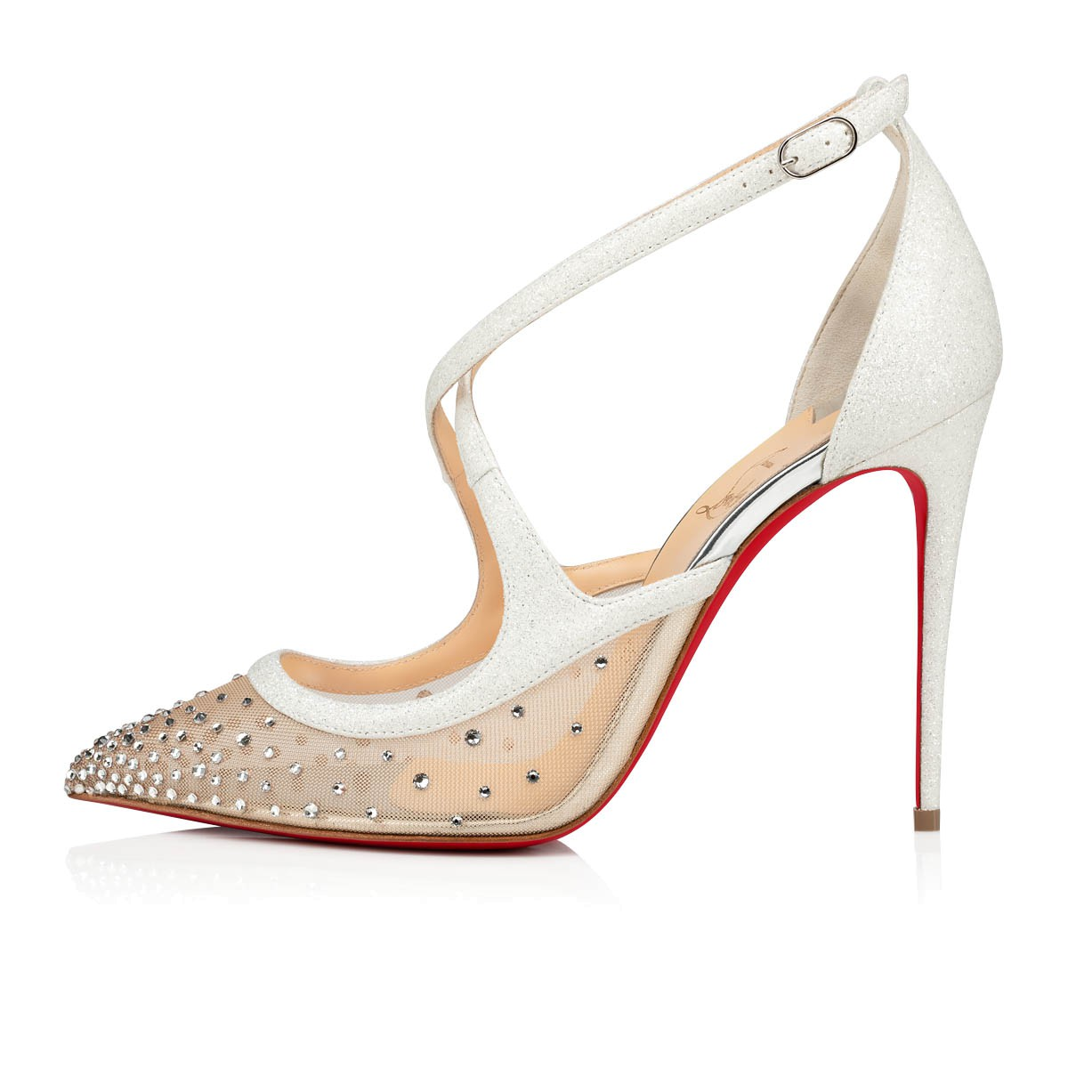 los angeles 8c755 4a9d1 TWISTISSIMA STRASS 100 Crystal Glitter - Women Shoes - Christian Louboutin