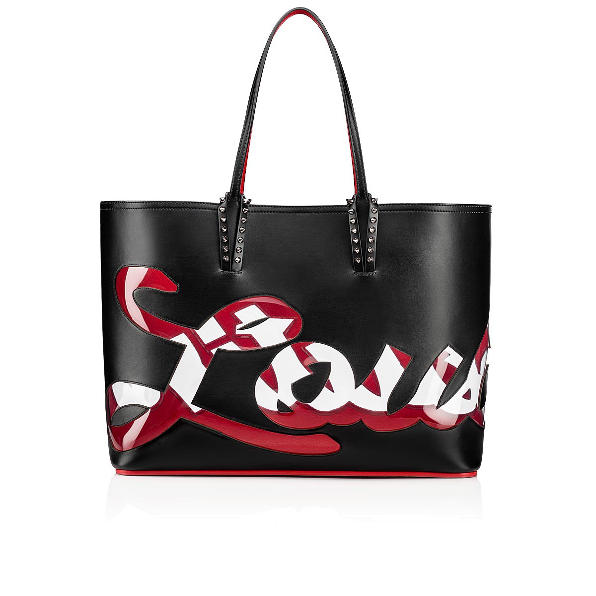 Cabata Tote Bag Black Calfskin Handbags Christian Louboutin