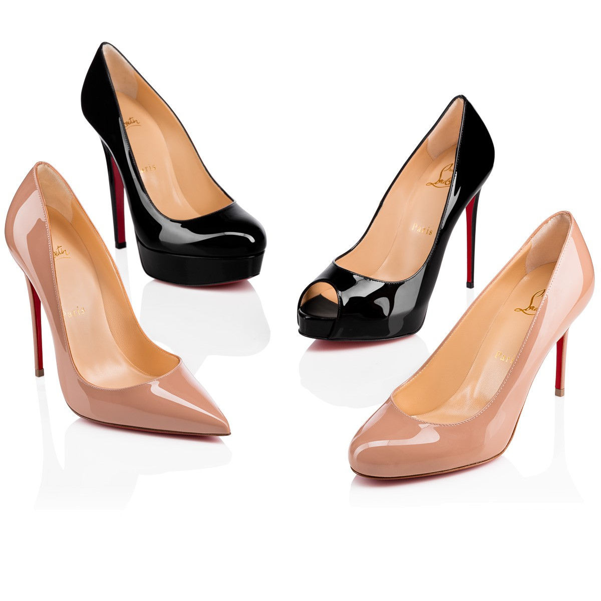 Christian Louboutin Nude So Kate 120 Mm Patent Leather